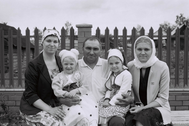 1.Mikhail with His Daughters and Granddaughters after Trinity Monday Mattins, Tsjerablichy 2016, 2016226- (F1110009