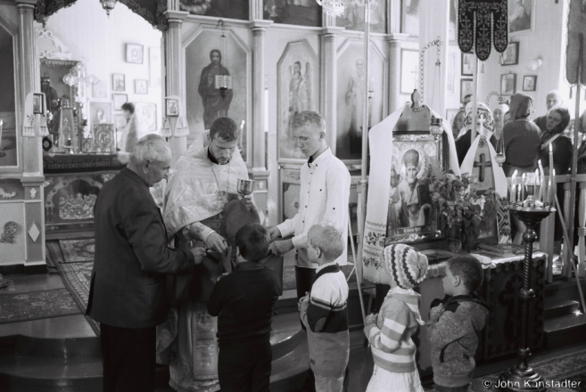 1h.Children's Communion, Mikola, Orthodox Church of St. Nicholas, Karotsichy 2017, 2017113- (F1030027