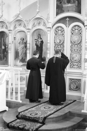 Father Vital' and his Father, Father Aljaksandr, Patronal Feast of the Intercession, Pachapava 2017, 2017246-2A (000461990002